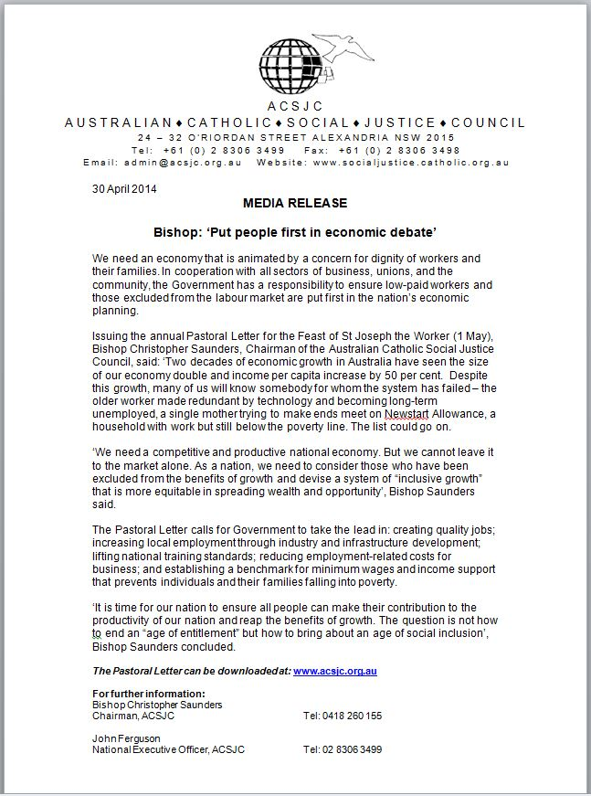 media release may14