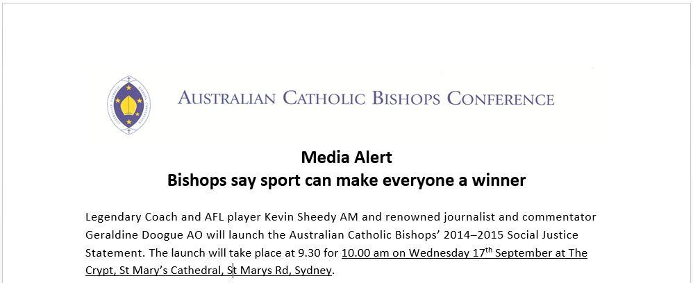 media release sport
