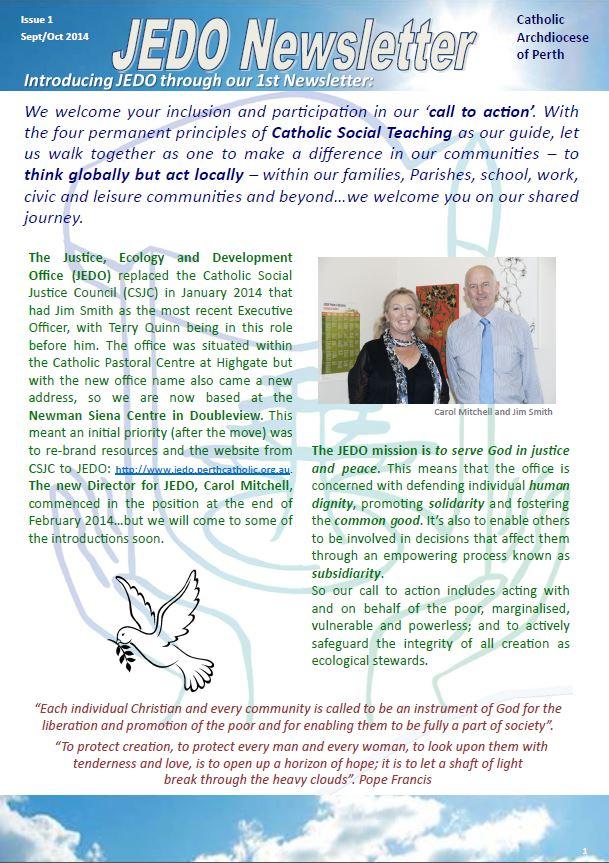 Newsletter 1 JEDO