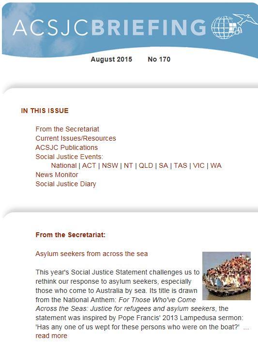 ACSJC briefing August 2015
