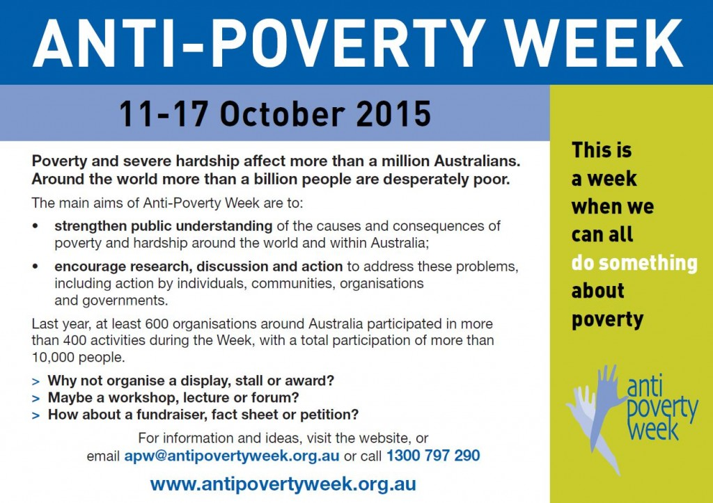 Anti poverty week image
