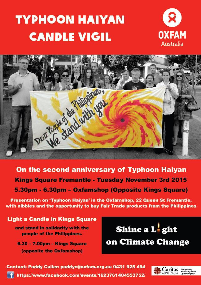 Typhoon haiyan candle vigil image