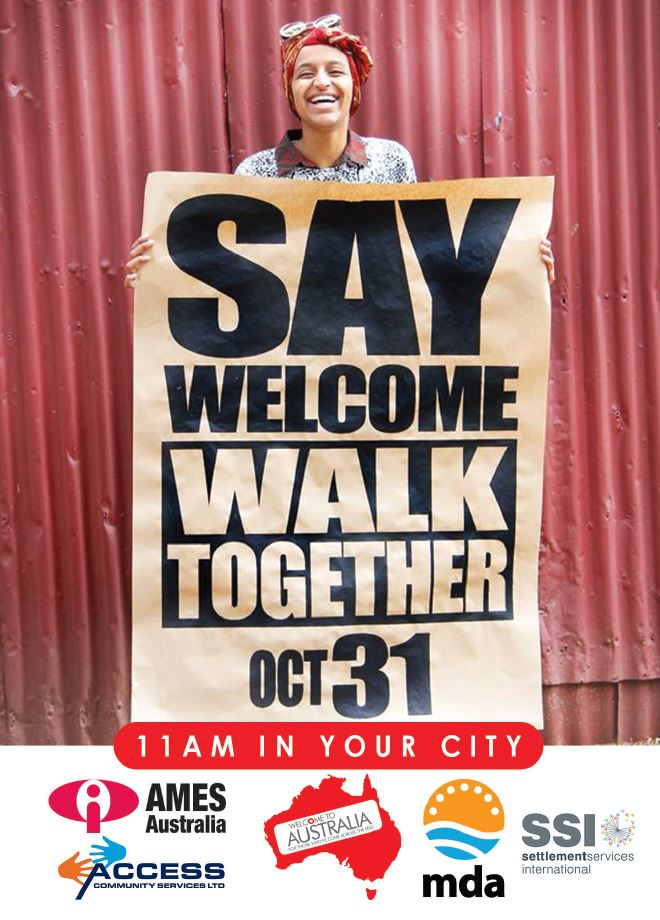 Walk Together postcard 2015 image