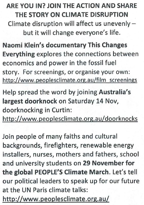 climate march flyer