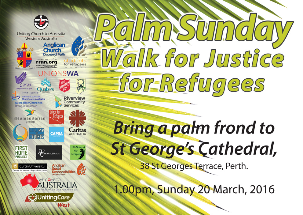 Palm Sunday 2016 Walk for Justice flyer