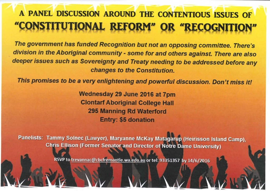 Constitutional Reform Discussion Flyer