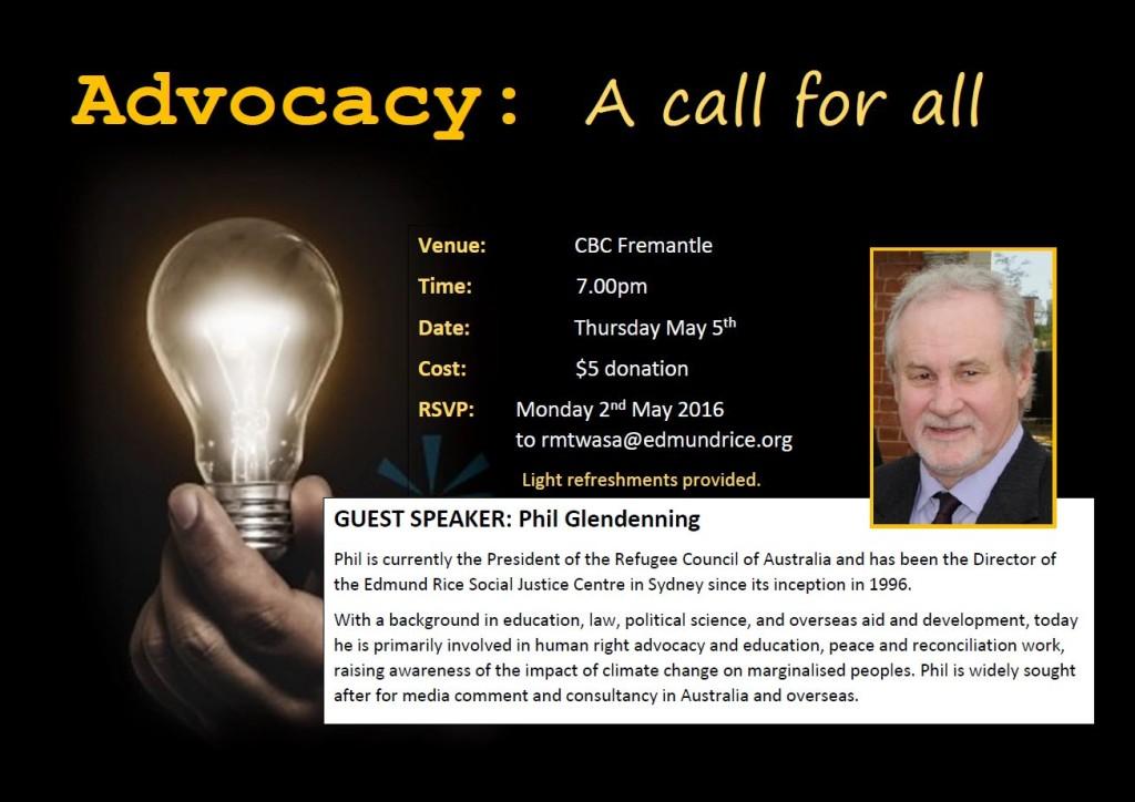 Phil Glendenning - Adocacy flyer