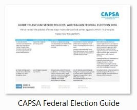 CAPSA Federal Election 2016 Asylum Seeker Policy Overview icon
