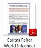 Caritas fairer world icon
