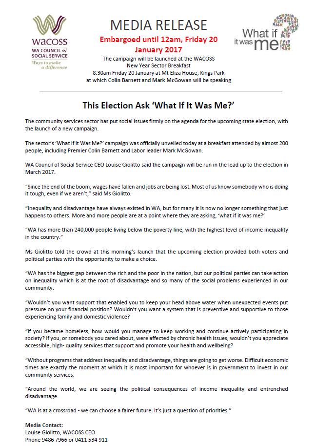 WACOSS Media Release Jan 16